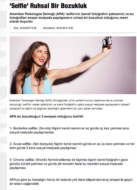 Selfie Hastalığı