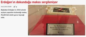 Green Park otelinde Erdoğan'ın tuttuğu makas.